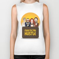 movie poster Biker Tanks featuring American Hustle Movie Poster by Gary  Ralphs Illustrations