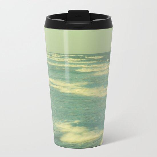 Green Sea Metal Travel Mug