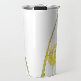 Yellow Billy Button Flowers Travel Mug