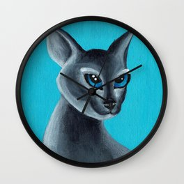 Big Blue Eyes Wall Clock