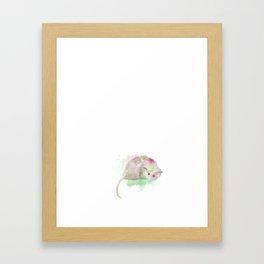 Watercolor Opossum Framed Art Print