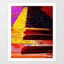 Piano art 6 Art Print