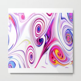 Waves and swirls, abstract, decorative patterns. Metal Print