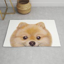 Pomeranian Dog illustration original painting print Rug