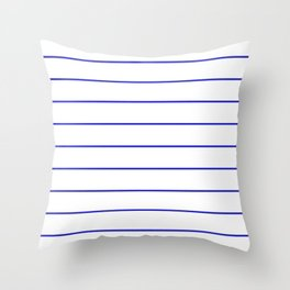 SKINNY STRIPE ((berry blue)) Throw Pillow