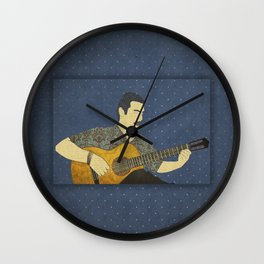 Classical guitar player Wall Clock