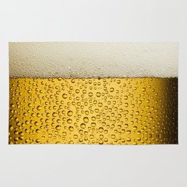Funny Bubbles Beer Glass Gold Rug