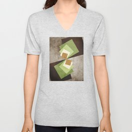 Curvature of A Square Unisex V-Neck