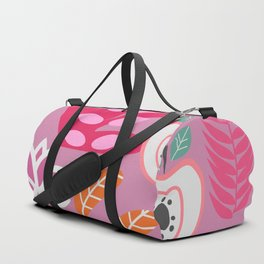 Apples and plants in shades of pink Duffle Bag