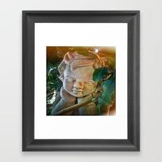 The Pondering Cherub Framed Art Print