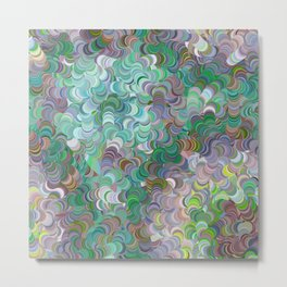 Lichen Swirl Metal Print