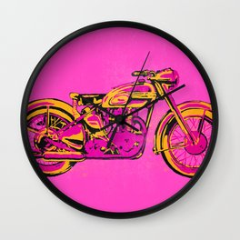 Pop Art Vintage Triumph Motorcycle Wall Clock