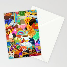 Sticker overload Stationery Cards