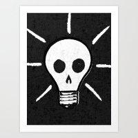 bad idea Art Prints featuring Bad Idea by ScottLaserowPosters
