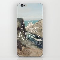adventure iPhone & iPod Skins featuring Great Adventure by Leah Flores