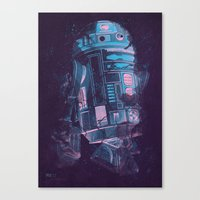 r2d2 Canvas Prints featuring R2D2 by Sitchko Igor