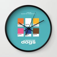 reservoir dogs Wall Clocks featuring Reservoir Dogs by Rahma Projekt