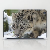 snow leopard iPad Cases featuring Snow Leopard by PICSL8