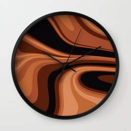 Coffee and Cream Marble Print Wall Clock