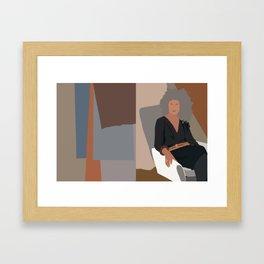 Relax. Minimalist Illustration Framed Art Print