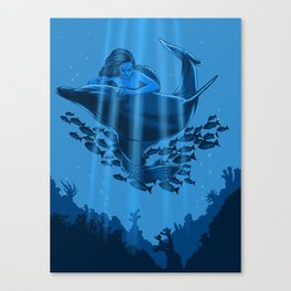 The Underwater Fantasy Canvas Print