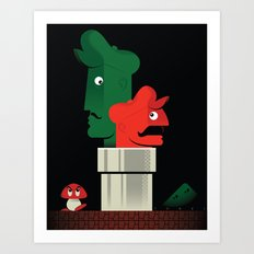 Pipe Down Art Print