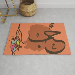 Love Calligraphy Paint, Islam Gift For Him, Islam Original Art, Arabic Decor, Valentine's Day Gift Rug
