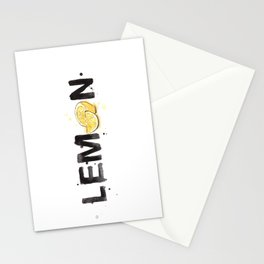 Favourite Things - Lemon Stationery Cards