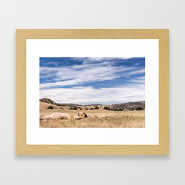 Dry meadows and rolling hills near Julian, CA Framed Art Print