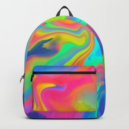 Neon Ripple Backpack