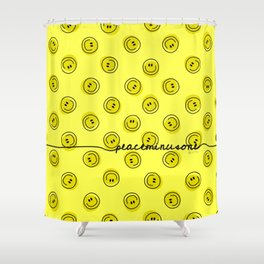 PMO Yellow Happiness Shower Curtain