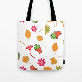 cactus, leaves in color Tote Bag