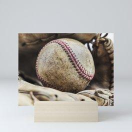 Baseball and Glove 2 Mini Art Print