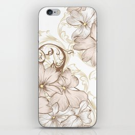 Classic pastel pattern with flowers iPhone Skin