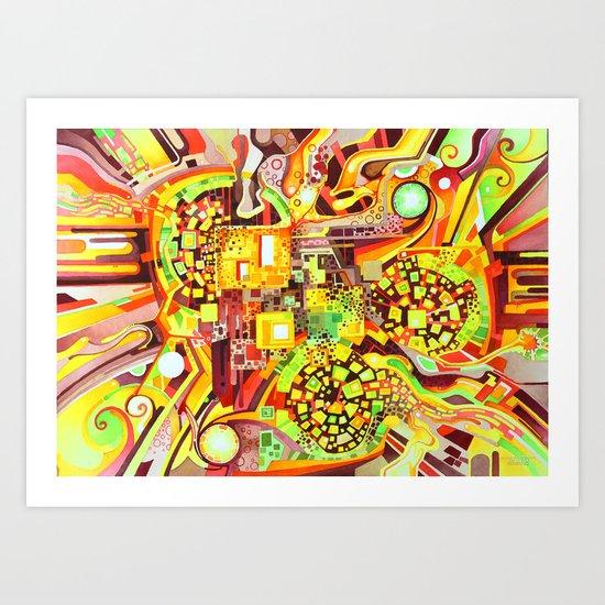 Distortion Sympathy - Watercolor Painting & Timelapse Art Print