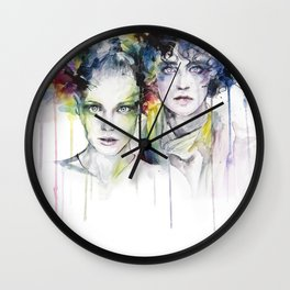 skies on fire Wall Clock