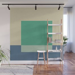 Green Square Wall Mural