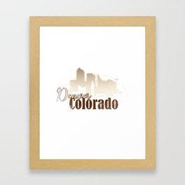 Denver Colorado Grunge Skyline Framed Art Print