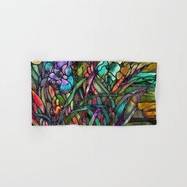 Candy Coated Irises Hand & Bath Towel