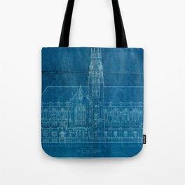 Church Elevation Blueprint Tote Bag