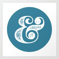 ampersand Art Prints featuring Ampersand by AndyGD