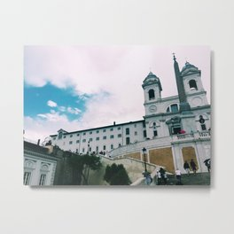 Top of the Spanish Steps Metal Print