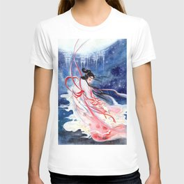 Watercolor Chinese Classic Beauty in tales: Chang'e 嫦娥奔月 T-shirt