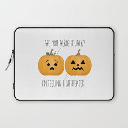 Lightheaded Jack-O-Lantern Laptop Sleeve