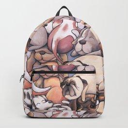 Sleeping Dogs Pattern Backpack