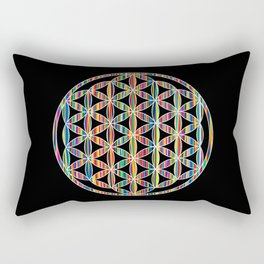 Flower of Life Colored | Kids Room | Delight Rectangular Pillow