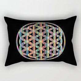 Flower of Life Colored   Kids Room   Delight Rectangular Pillow
