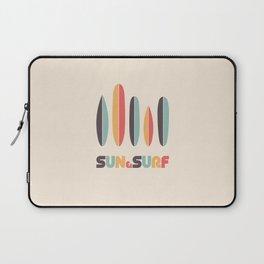 Sun & Surf Surfboards - Retro Rainbow Laptop Sleeve