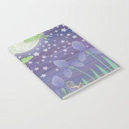 Moonlit stars, luna moths, snails, & irises Notebook
