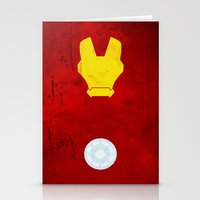 iron man Stationery Cards featuring Iron Man by theLinC